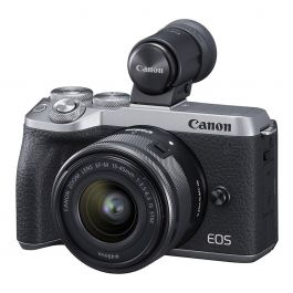 Canon EOS M6 Mark II with EF 15 - 45mm Lens & EVF DC2 Kit