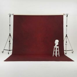 Oliphant 3.65 x 6.70m Canvas Backdrop - Mottled Wine
