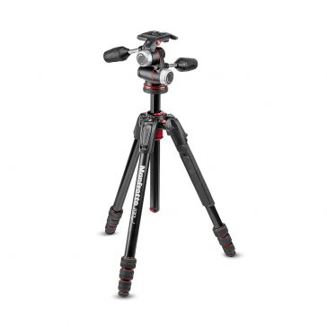 Tripod Kit 190 3sec Blk Alum MT190XPRO3 & XPRO-3 3 Way Head