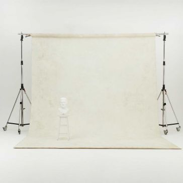 Oliphant 3.65 x 6.70m Canvas Backdrop - Cream/White