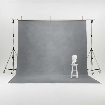 Oliphant 3.65 x 6.70m Canvas Backdrop - Light Grey
