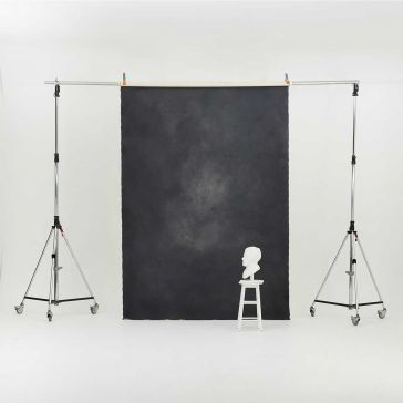 Oliphant 2.36m  x 3.36m Canvas Backdrop - Small Grey