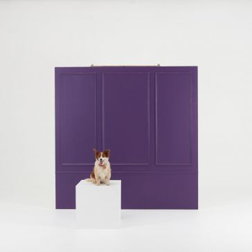 8 x 8 Foot Wainscot Wall Flat with Braces - Custom Coloured