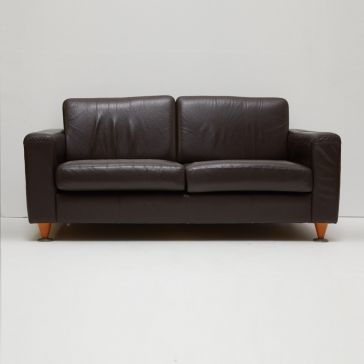 Black 2-Seater Sofa
