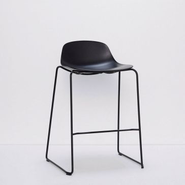 Black Metal/Plastic Stool