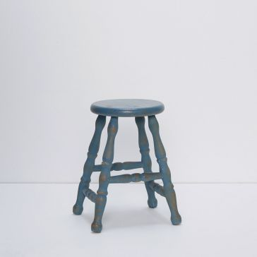 Blue Wooden Kids Stool