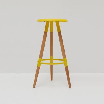 Cosmo Bar Stool Yellow/Beech