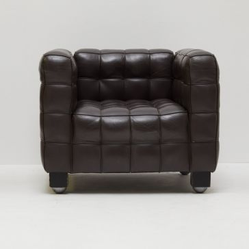 Kubus Armchair Black Leather