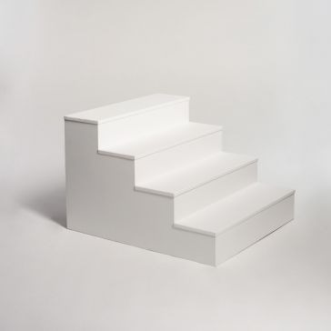 Stairs Plinth As Is/Fresh White