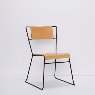 Timber and Metal Chair Modern Style