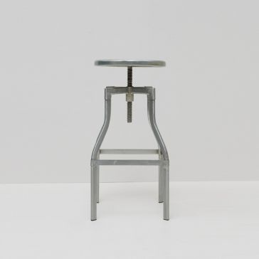 Turner Industrial Bar Stool Silver