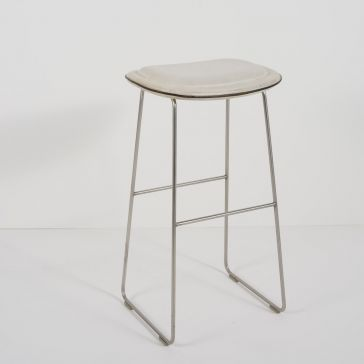 White Softpad Stool