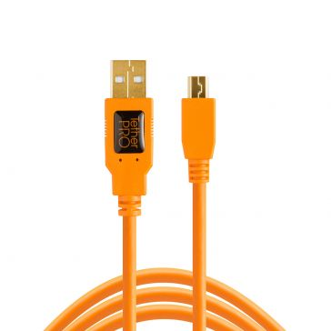 Tetherpro USB 2 Male to Mini-B 5 Pin, 4.6m , Hi-Vis