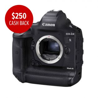Canon EOS-1D X Mark III DSLR camera for shooting video and stills.