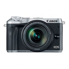 Canon EOS M6 Super Kit with EF-M18-150ST Lens (Silver) - Refurbished