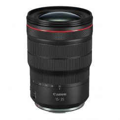 Canon RF 15-35mm f/2.8L IS USM Lens for professional-level mirrorless EOS cameras in photography.