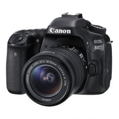 Canon 80D Single Kit with EFS18-55ST Lens - Refurbished