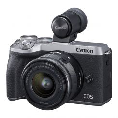 Canon EOS M6 Single Kit with EF-M15-45ST Lens (Silver) - Refurbished