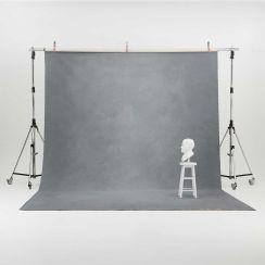Oliphant 3.65 x 6.70m Canvas Backdrop - Light Grey