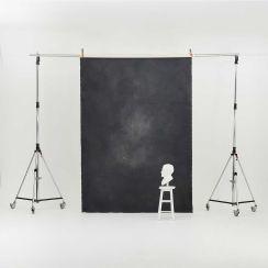Oliphant 2.36m  x 3.36m Canvas Backdrop - Small Grey