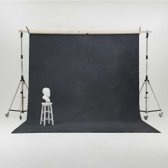 Oliphant 3.65 x 6.70m Canvas Backdrop - Stormy Grey