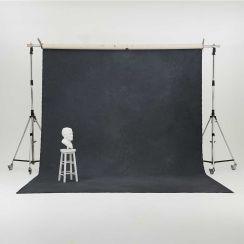 Oliphant 3.65 x 6.70m Canvas Backdrop - Stormy Grey