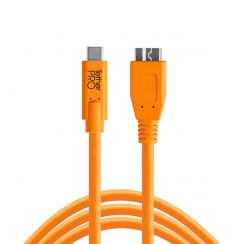 TetherPro USB-C to 3.0 Micro-B 4.6m Hi-Vis