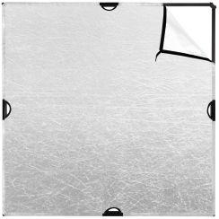 Westcott Scrim Jim White/ Silver Fabric 6' x 6'