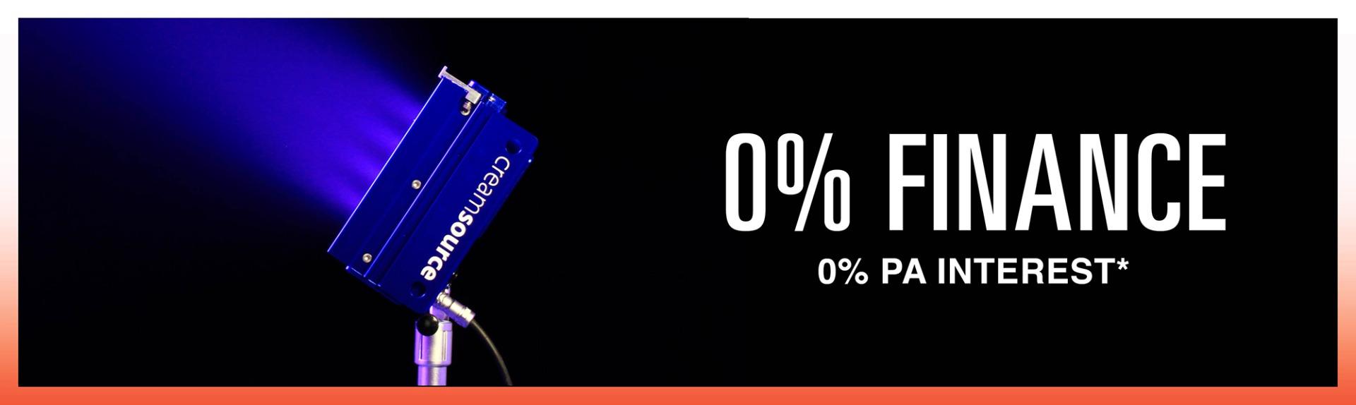 SUNSTUDIOS 0 percent interest finance offer