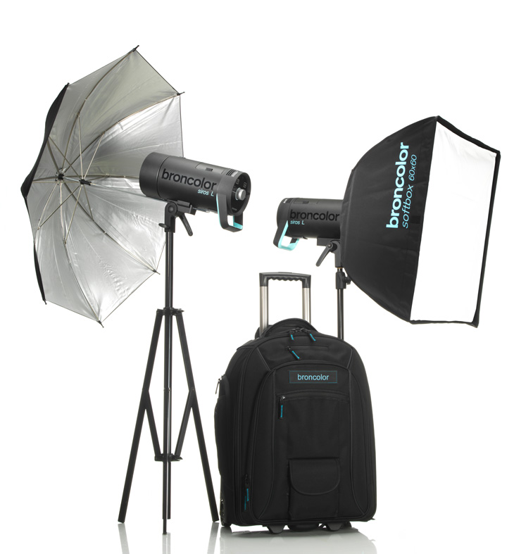 The Siros L kit, broncolor's battery-powered compact Monobloc, studio and location photography lighting.