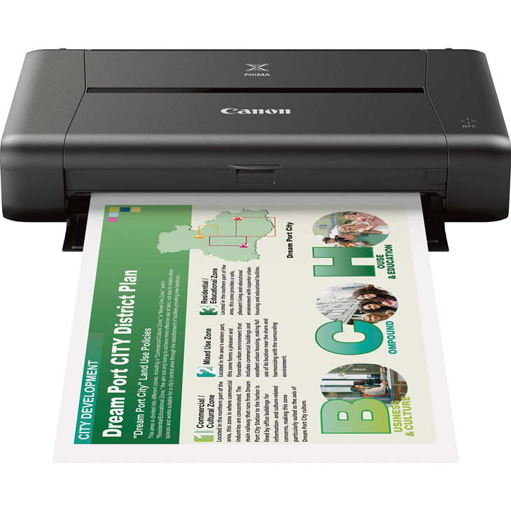 Canon PIXMA iP110 is a wireless compact mobile printer prints up to A4.