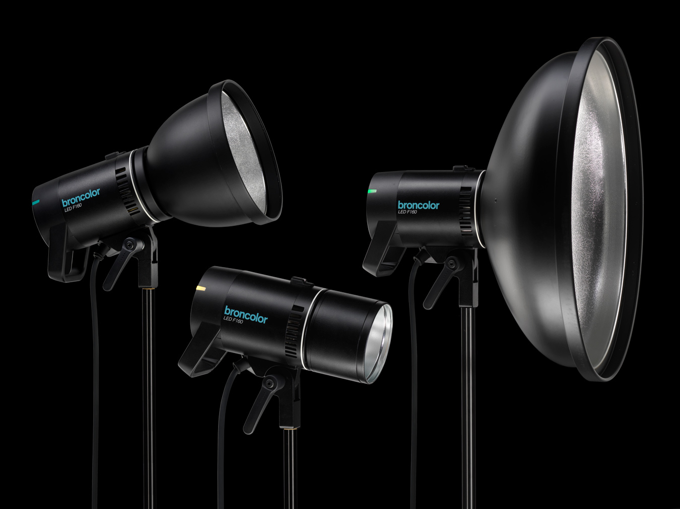Broncolor F160 collection of photo studio lighting equipment