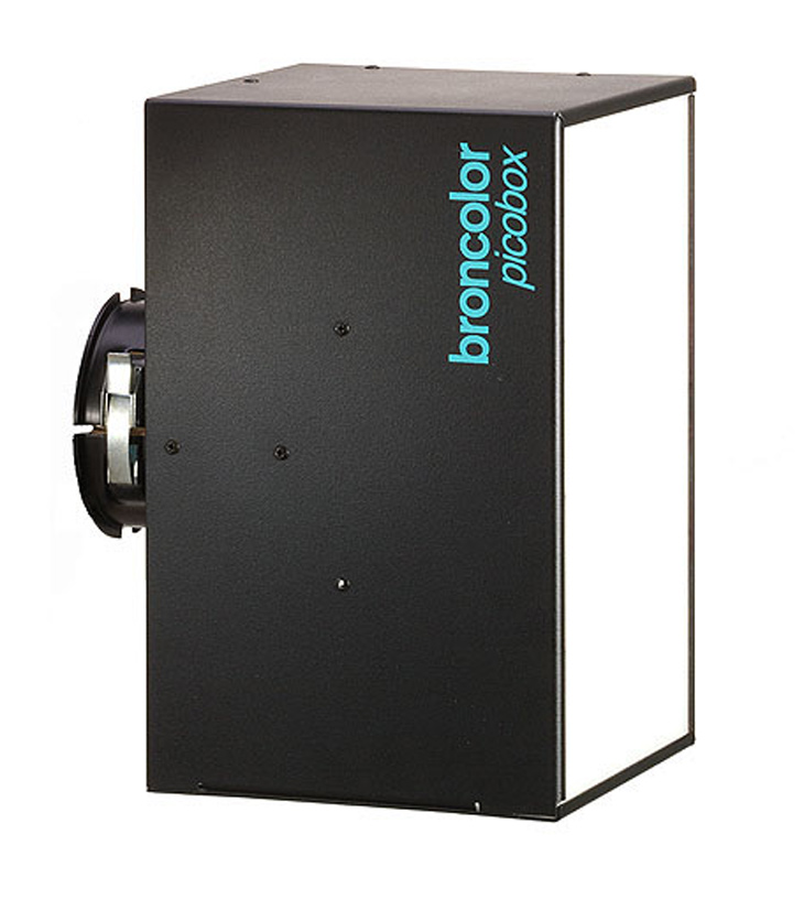Broncolor Pico box, light diffuser for photography studio lighting, used in conjunction with Picolite