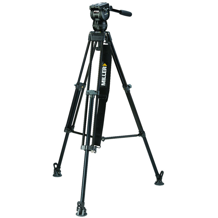 Miller CX6 tripod with toggle 2-Stage AG spreader for shooting still photography.
