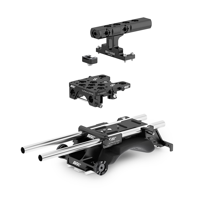 ARRI Pro broadcast plate set for the Canon C300 Mark II or C200.