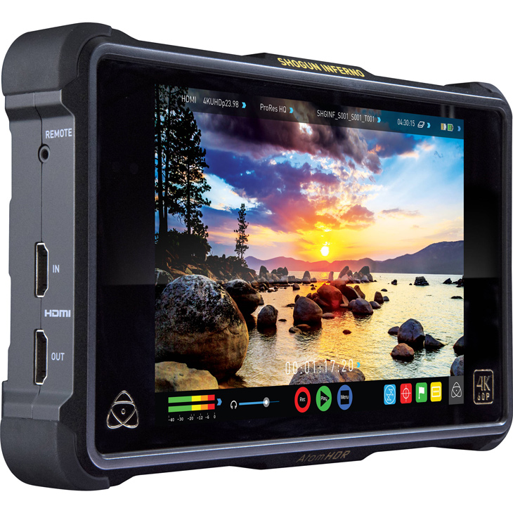 The Atomos Shogun Inferno, a portable recording HDR monitor for cinema and motion.
