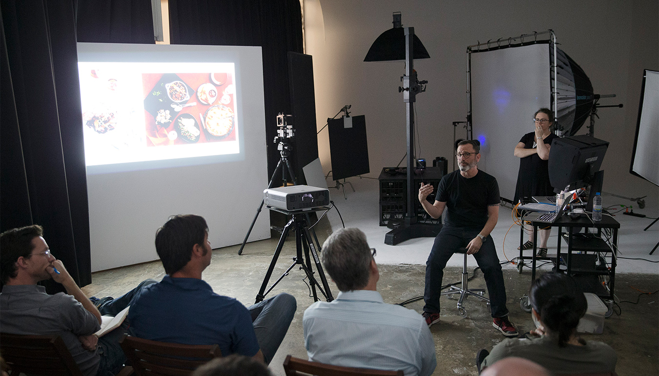 Renown photographer Jon Bader holds commercial food photography workshop at Sydney photography studios, SUNSTUDIOS.