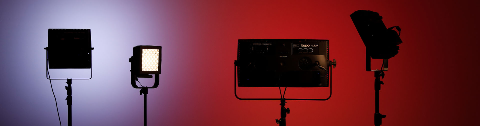 lupo-LED-lighting-range-against-red-and-blue-background