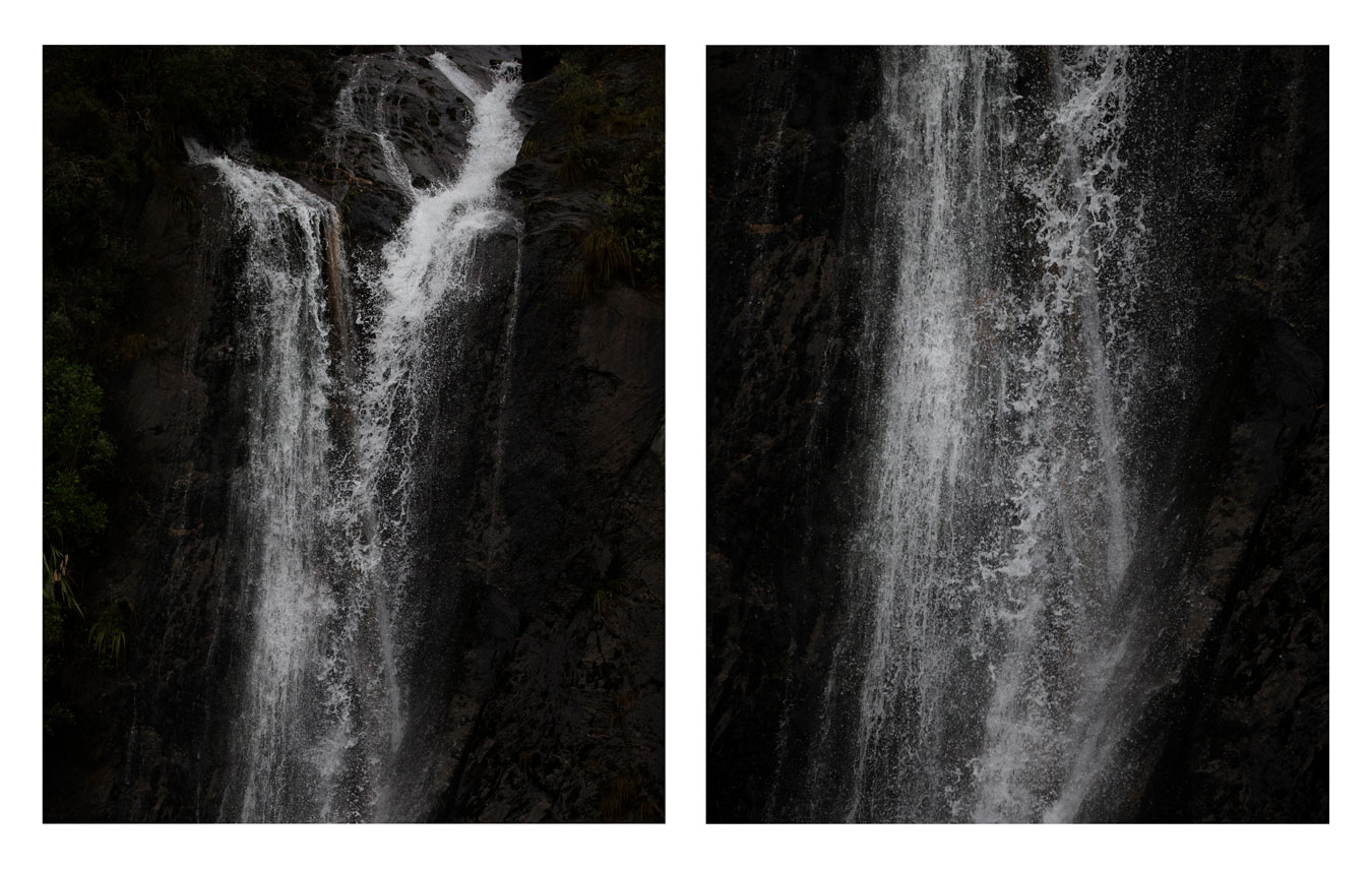 black-and-white-photograph-of-waterfall
