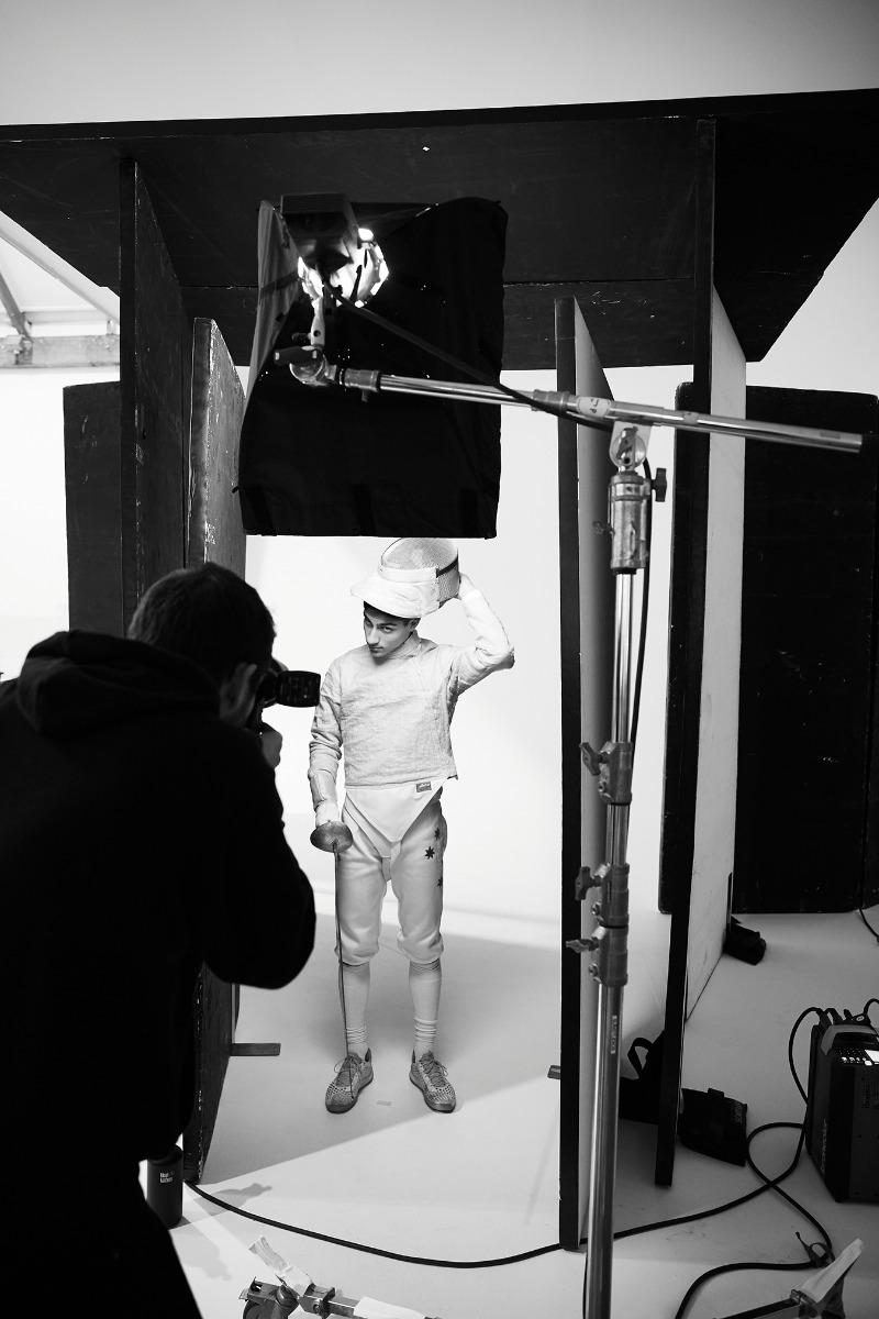 Tim Jones shooting The Battle, opening at SUNSTUDIOS Atrium Gallery February 13.