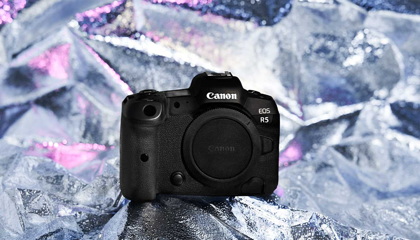 canon-eos-r5-camera-body-on-silver-background