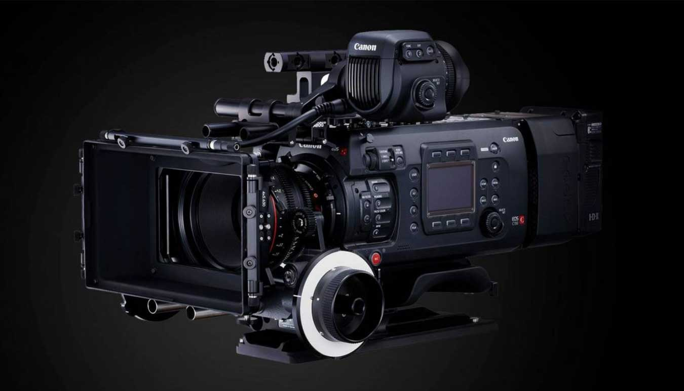 canon-eos-c700-camera-with-lens-on-black-background
