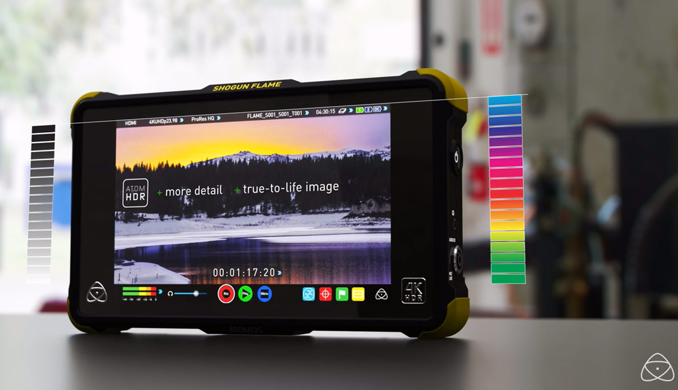 Atomos Ninja Flame screen calibration