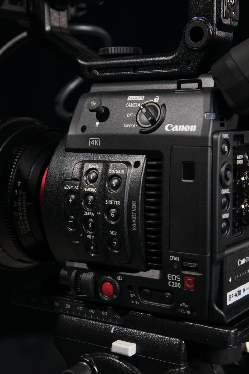 The 4K compact digital Canon EOS c200 cinema camera, is perfect for a broad range of cinematography.